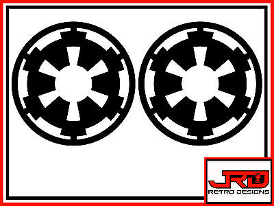 2 x Star Wars Galactic Empire Emblem Logo vinyl stickers in Black