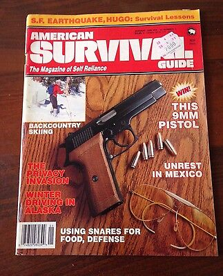 R27> American survival guide - january 1990 - this 9mm pistol - unrest in Mexico
