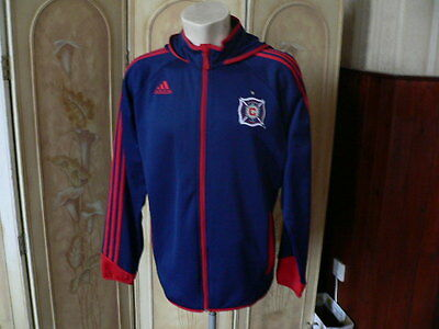 chicago fire MLS hooded track top adidas USA soccer football shirt UK44/46 USL