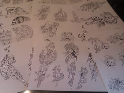 250 SHEETS OF TATTOO FLASH LINES...mint condition