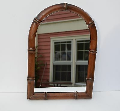 Unusual Antique Carved Bamboo Shape Gothic Wooden Table Or Wall Mirror