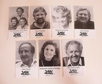 Set of Seven Publicity Cards from Radio Station 1278 3AW - 'Talking Melbourne'