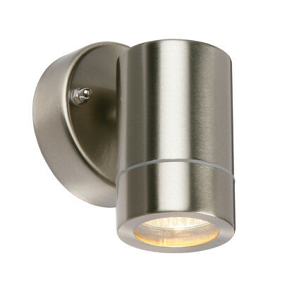 Saxby Palin Outdoor IP44 Down Stainless Steel / Copper GU10 Dimmable Wall Light