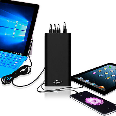 Abyone Portable Charger External Battery Power Bank fr Surface Pro Book 2 Laptop
