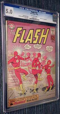The Flash #132 CGC 5.0 OW Pages - The Heaviest Man Alive!
