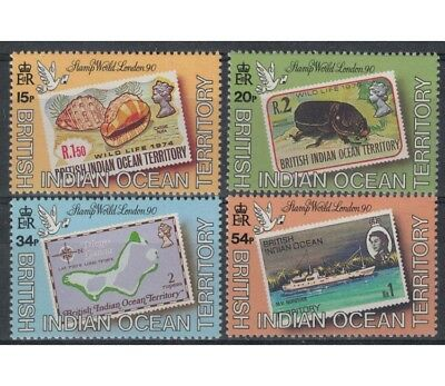 BRITISH INDIAN OCEAN TERRITORY 1990 Expo Londra 4v MNH**