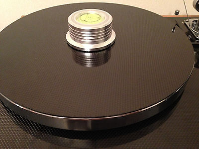 Record Turntable Mat Rega Thorens Lenco Project *Solid* Carbon Fibre