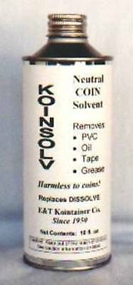 KOINSOLV Coin Cleaning Solvent Removes PVC & OIL 16oz