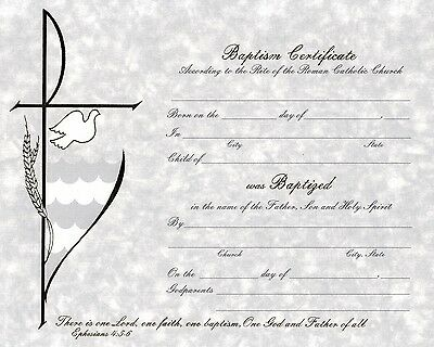 Baptismal Certificates with Envelopes