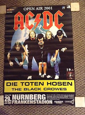 AC/DC AND BLACK CROWES OPEN AIR 2001 23x33 GERMAN POSTER