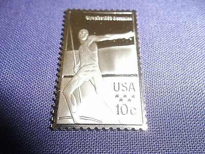 SILVER PROOF 1980 OLYMPIC STAMP JAVELIN THROW LAKE PLACID bullion bar coin