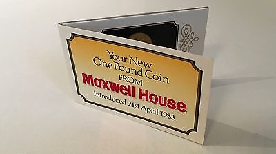 Maxwell House one pound commemorative coin with cover 21 April 1983
