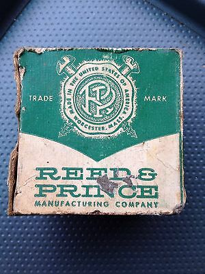 "Vintage Reed & Prince Box Pan Head Tapping Screws~Type A Zinc Chromat 1 1/4"" #6"