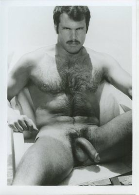 PETER STRIDE vintage gay COLT JIM FRENCH b&w 5x7 photograph-HAIRY TUFF GUY