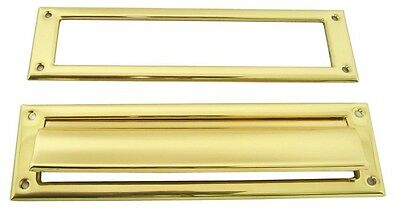 Schlage Builders Hardware 3.5x13 Solid Brass Mail Slot SC620B3