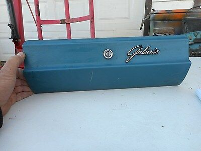 1963 63 ford galaxie 500 glove box door with emblem 1964