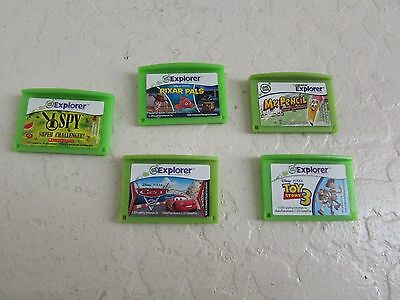 Lot of 5 Leap Frog LeapPad Explorer BOY Learning Games