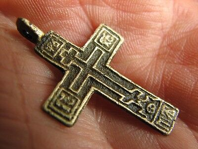 Very Nice Late  Medieval Cross - Pendant #4562