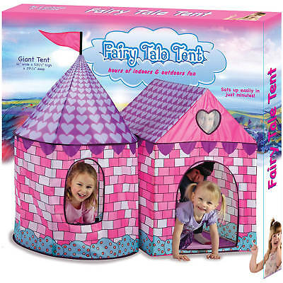 Fairy Tale Tent Playhouse Play House Kids Children Fold Up Indoor Outdoor Party