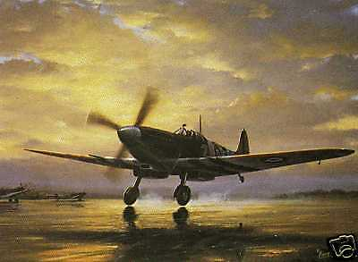 SPITFIRE MkIX TAKING OFF--AIRCRAFT PRINT BY BARRY PRICE