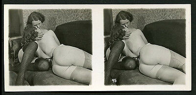 French Stereo OSTRA STUDIO Rear Vu ROUND Derriere Lesbians 1930 PARIS Latest!