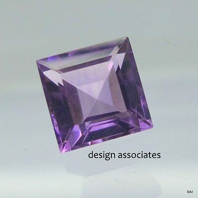 Amethyst Fluorite 14 Mm Square Cut All Natural Gemstone 16.50 Carats