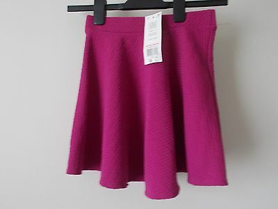F & F Pink Elasticated Waist Skirt Age 9/10 years