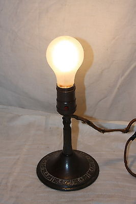 Antique 1920's The Greist Mfg Co Brass Clip On Wall Table Sconce Light Fixture