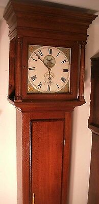 "Antique  Oak Automation Windmill"" Exeter""  Longcase / Grandfather Clock"