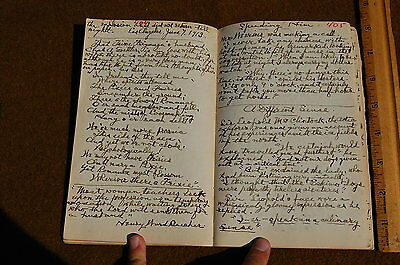 1906 Handwritten Book of Anecdotes Funny Stories For Sermons Pomona California!