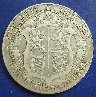 1905 2/6 Edward VII silver Halfcrown: the pinnacle of the 20th Century key dates