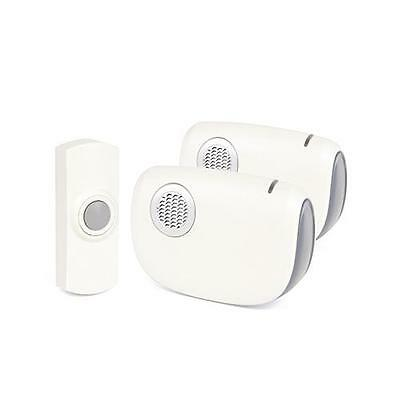 Lloytron B7012 32 Melody Battery Operated Wireless Doorbell Twin Reciever - New