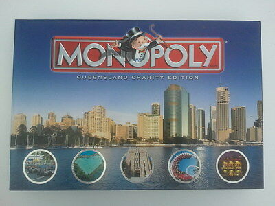 MONOPOLY - Queensland Charity Edition - Board Game - Hasbro (2006) Complete