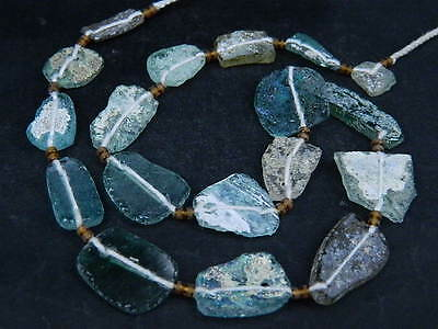 Ancient Fragment Glass Beads Strand Roman 200 BC    #BE1427