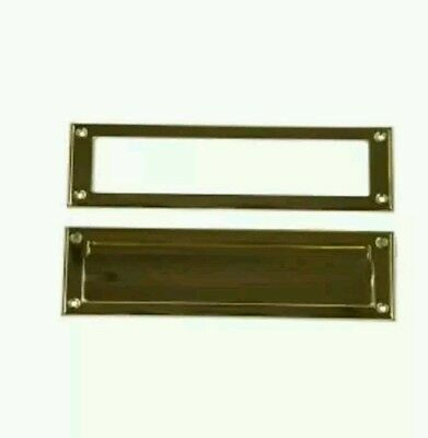 Steel Mail Slot in Brass Finish-Gibraltar Mailboxes