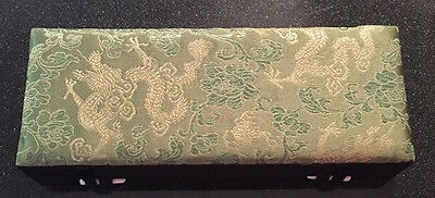 NEW Incense Gift Set with green and gold decorative storage box and holder