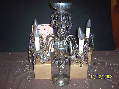 """Crystal Chandelier - 5 Light 21"""".   Purchased 1943 By My Grandmother."""