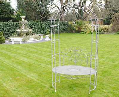 Vintage Garden Arch With Oval Seat