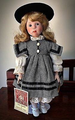 """Vintage Dynasty Doll Collection Tina Porcelain Bisque With Stand - Height 17"""""""
