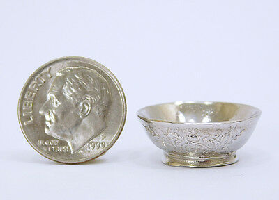 Eugene Kupjack Sterling Silver Footed  Bowl Dollhouse Miniature