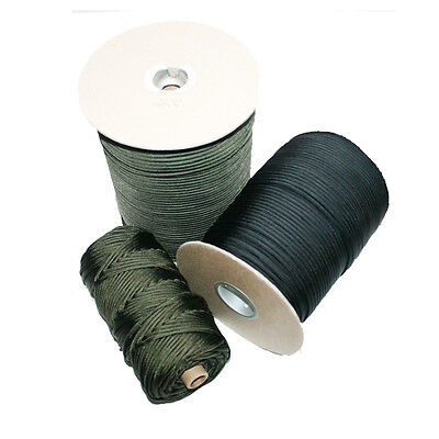 BLACK Nylon Braided Cord Twine Rope - 1.3mm 2mm 3mm  5mm & 8mm