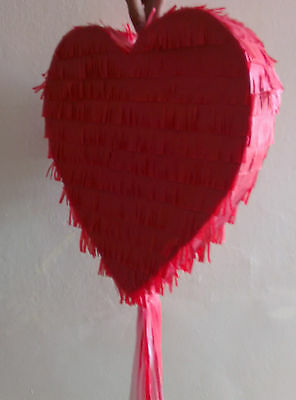 Red Love Heart Pinata wedding engagement marry marriage prom anniversary party
