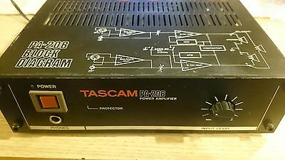 Tascam PA-20B stereo/brige power amplifer in good condition