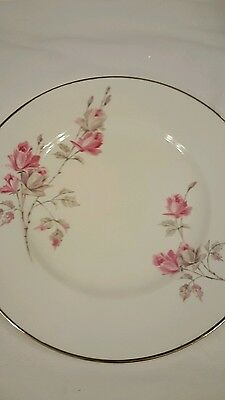 Crown Staffordshire England Roses Plate 8 Inch Gold Rimmed