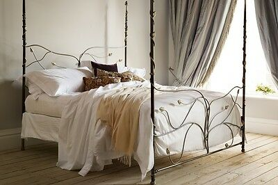 AND SO TO BED TREE OF LIFE 5ft KING SIZE SILVER BED