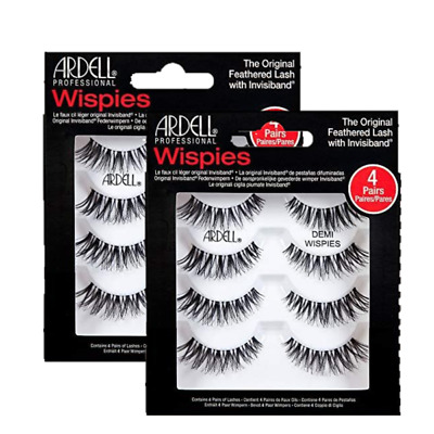 (2 pack) Ardell NATURAL MULTIPACK DEMI WISPIES Fake Lashes 61494 4 pairs