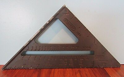 """Stanley 7"""" Combination Square Layout Tool Speed Square Rafter Angles Protractor"""