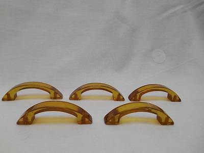 Old Bakelite Butterscotch Rootbeer DRAWER PULL HANDLES