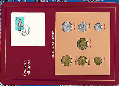 Coin Sets of All Nations Tunisia 1960-1993 100,50,20,10 Millimes 1993 UNC