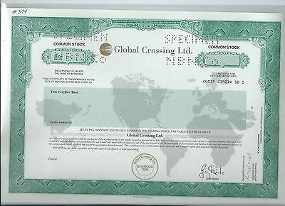Global Crossing specimen stock certificate 1998